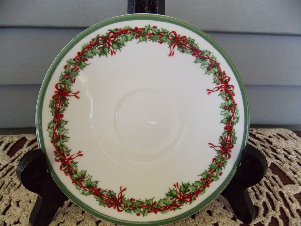 Traditions Holiday Celebrations by Christopher Radko Saucer Plate ...