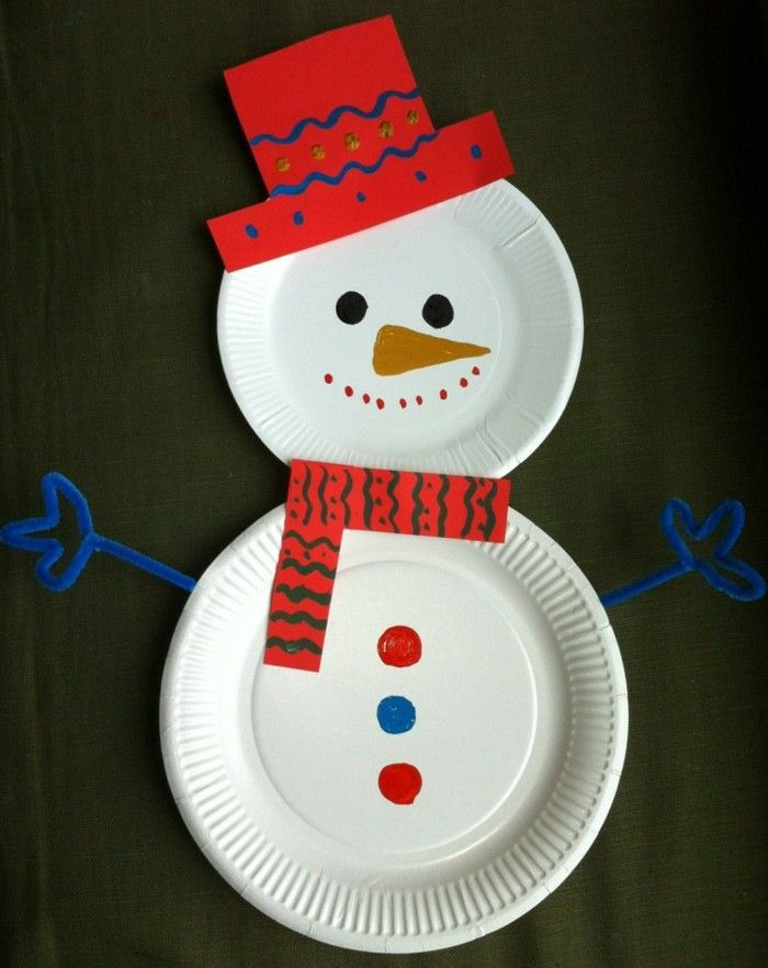 Christmas decorations ideas DIY snowman yourself DIY disposable plates paper & Christmas decorations ideas DIY snowman yourself DIY disposable ...