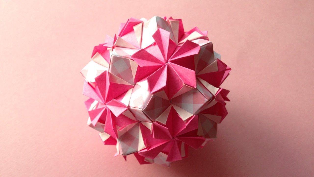 Origami Kusudama Flower Periwinkle 30units Instructions