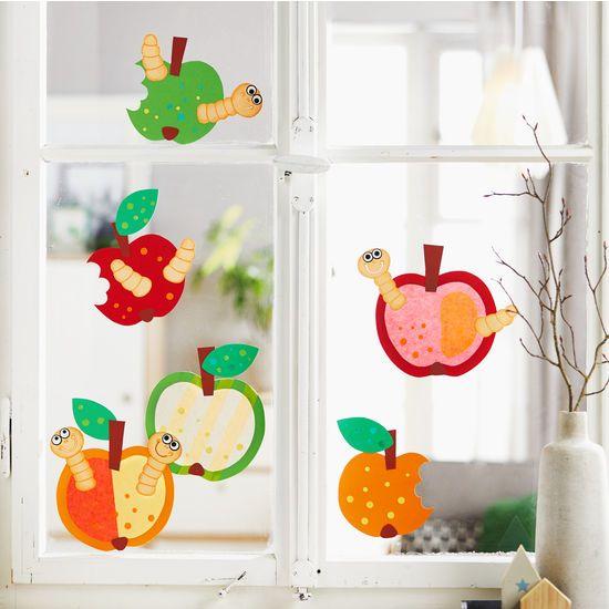 Sachenmacher Fensterbilder Äpfel JAKO-O, Bastelset für 6 Stück » JAKO-O