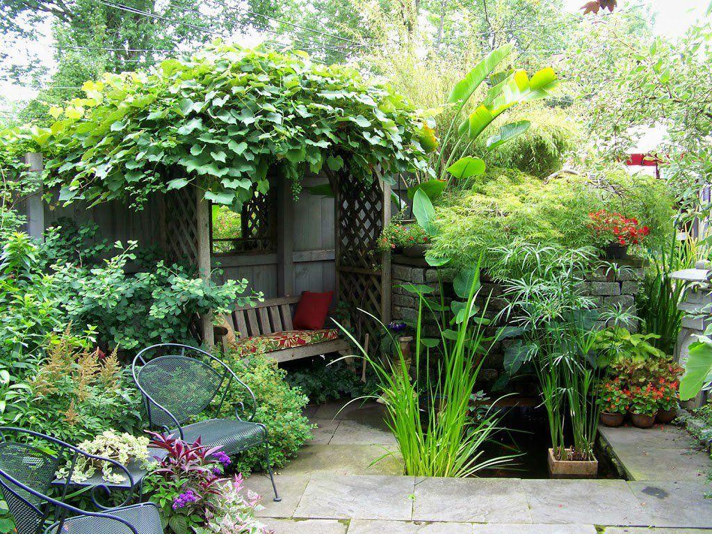 25 ideas de dise os r sticos para decorar el patio decoracion decoraciones de jard n - Diseno de jardines rusticos ...
