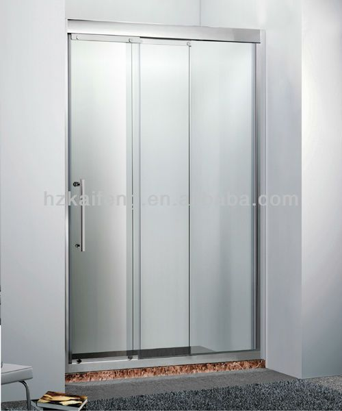 3 Panel Stainless Steel Sliding Shower Door | Architecture ...