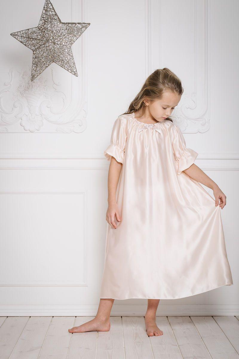 Antonia silk nightdress kids girls children nightwear