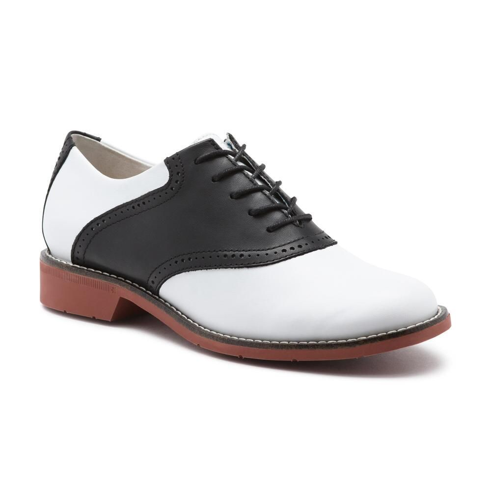 06274a3b48b389 Dora Saddle Black/White Get Dressed, Saddles, Loafers For Women, Flats,