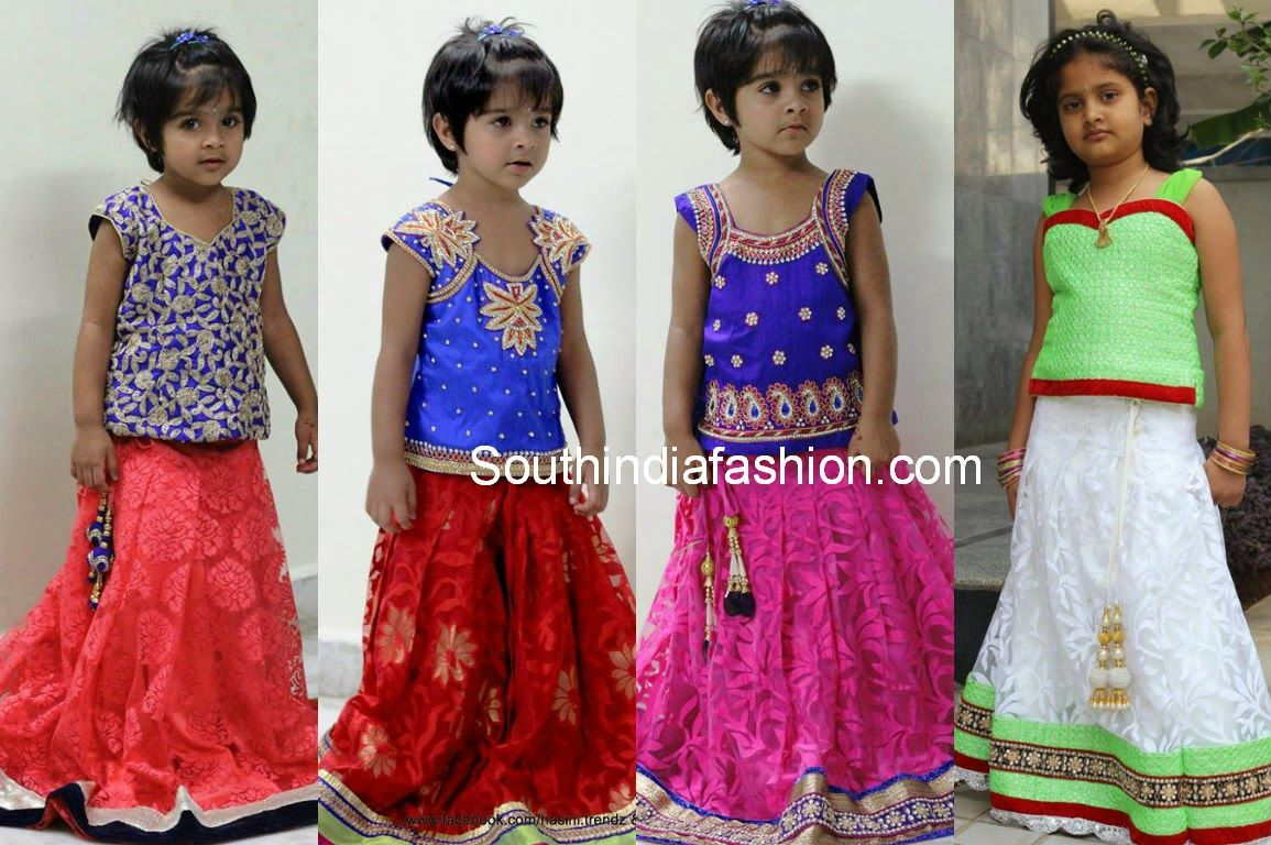 Beautiful kids lehengas beautiful kids blouse designs and ethnic