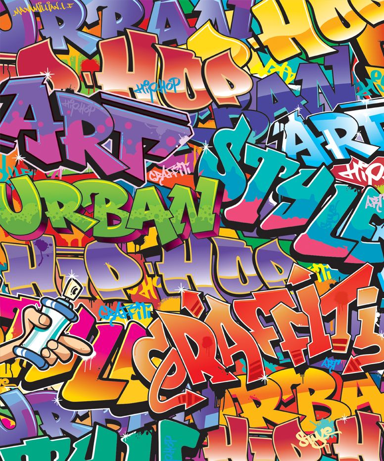 Graffiti Wallpaper Wall Murals Ireland Graffiti tapete