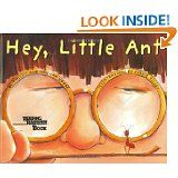 A favorite of mine. A rhyming dialogue between an ant and the boy who wants to squish him.