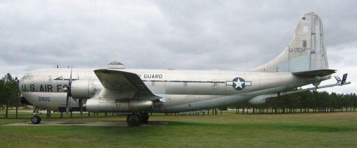 kc 97 airplane | War Memorials of Wisconsin - KC-97L in Camp Douglas, WI