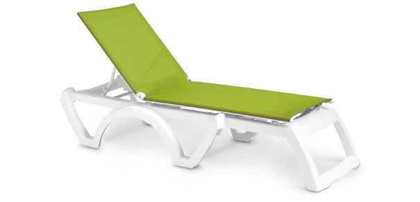 Calypso Adjustable Stacking Sling Chaise Lounge Sling Chaise Outdoor Chaise Lounge Chaise Lounge
