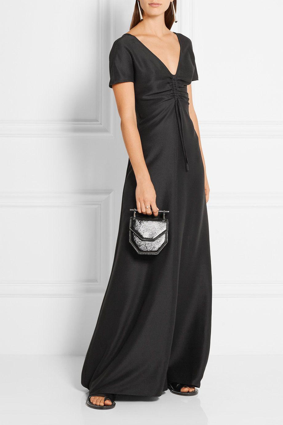 Barbara casasola silk crepe de chine maxi dress a modern