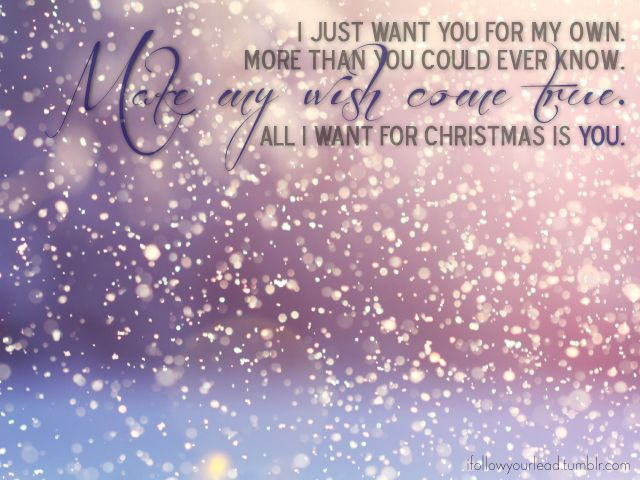 mariah carey, all i want for christmas is you | Photo Quote by Marfleet Creative ...