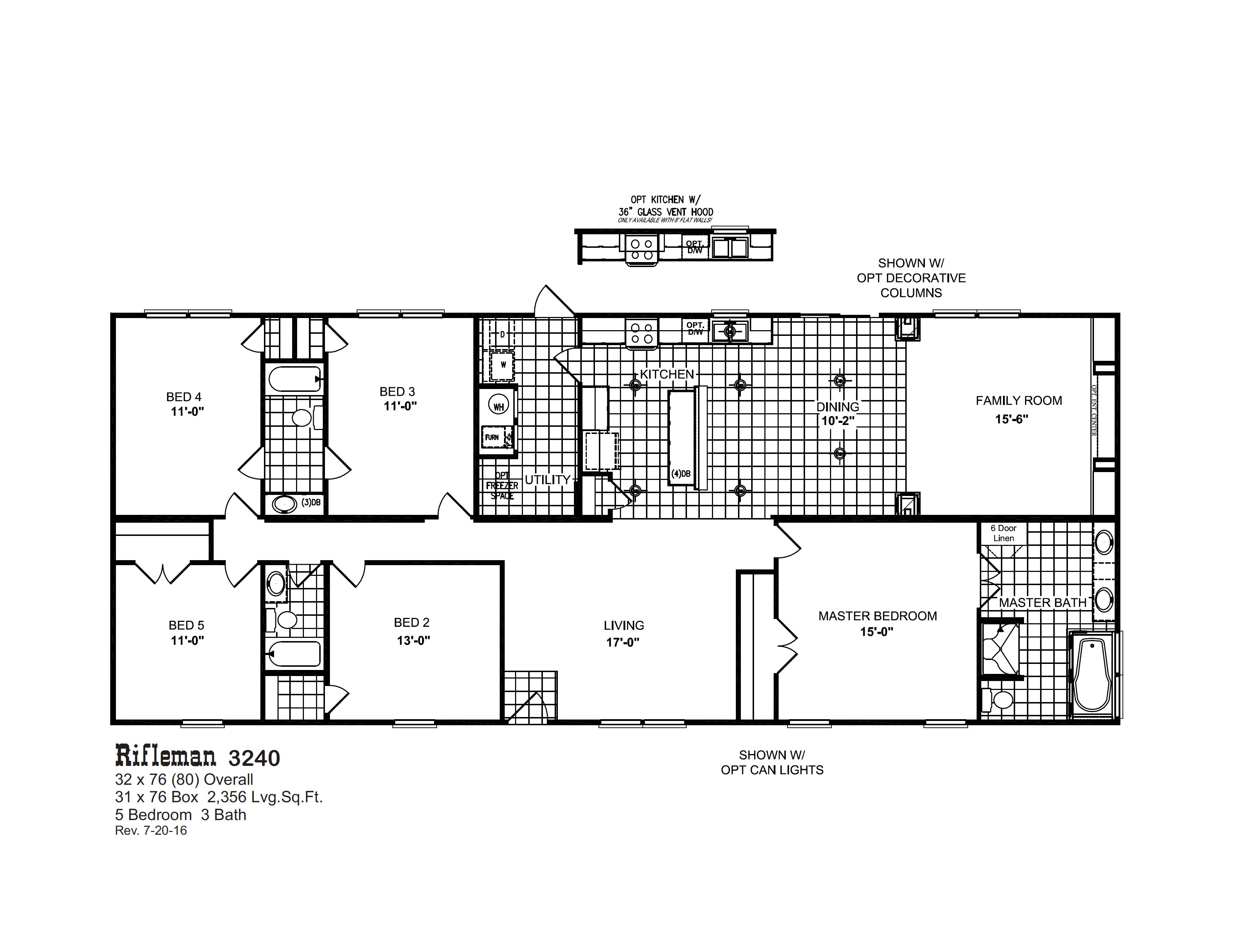 Rifleman 3240 Oak Creek Homes Mobile Home Floor Plans Modular Home Plans Manufactured Homes Floor Plans