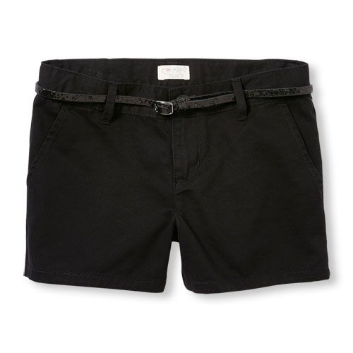 s Glitter Belt Shorts - Black - The Children's Place