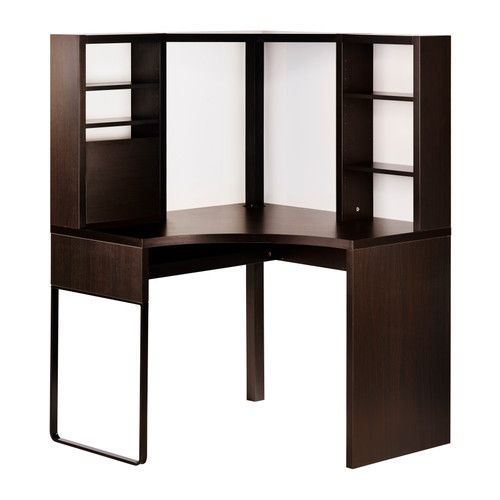Micke Corner Workstation Black Brown 39 3 8x55 7 8 Ikea Corner Workstation Ikea Micke Ikea