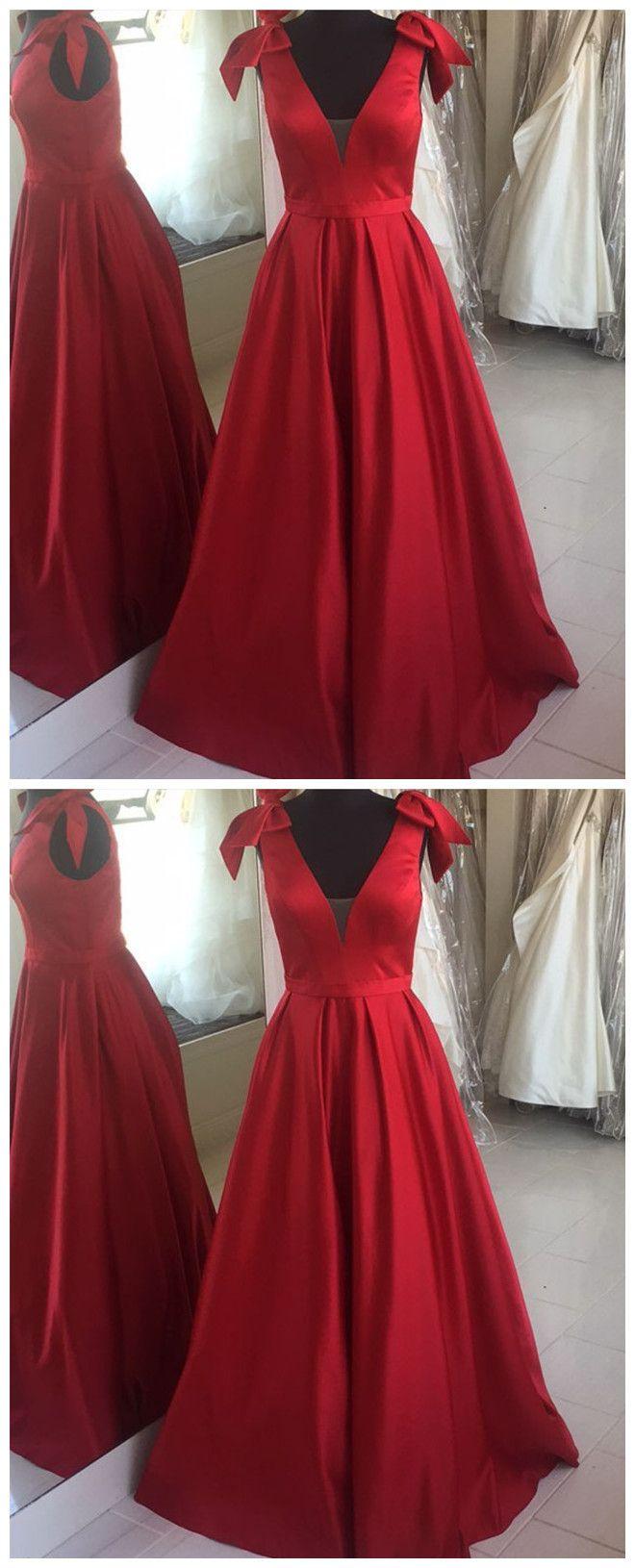 的 satin aline long prom dress evening dress featuring bow