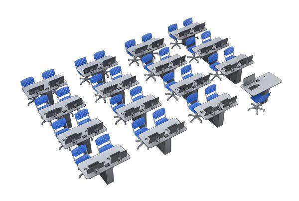 laboratorio de informatica com mesas em grupo - Pesquisa Google ...
