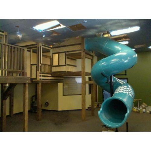 11 ft tube slide 30 450 degree spiral image shown from for Indoor play slide