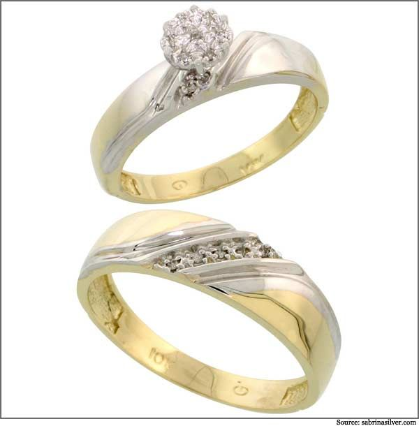 Attrayant Jodi Gold Ring Set For The Bride And Groom Is Perfectly Crafted To  Strengthen The Bond
