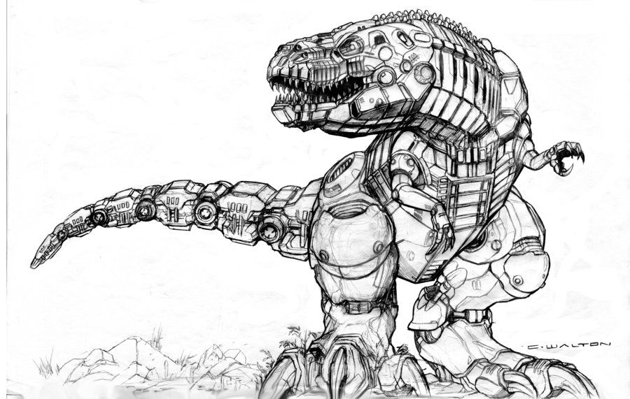 робот динозавр картинка рисунок нас можно