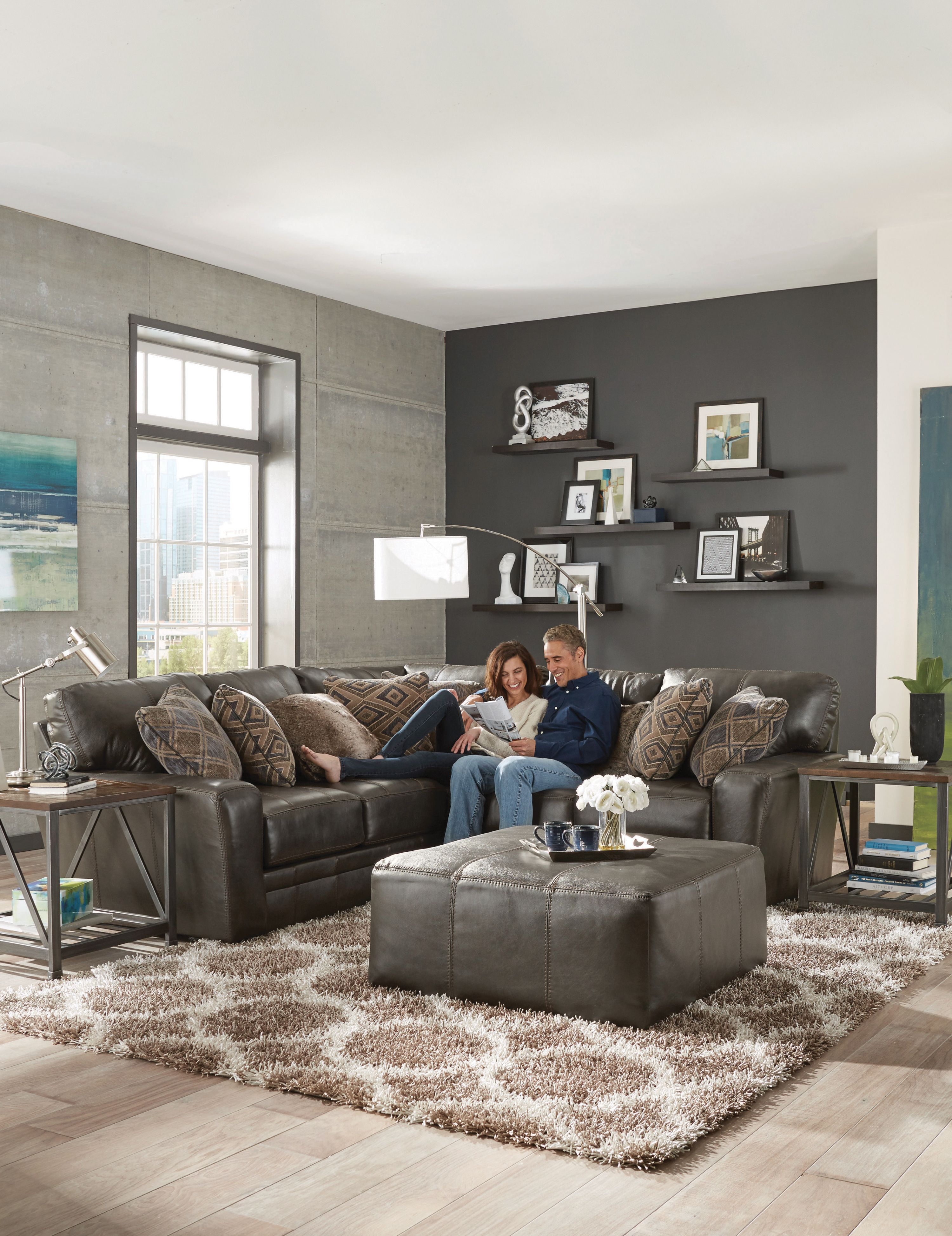 Denali Is A Modular Sectional In Genuine Top Grain Italian Leather Match With Decorative Luggage Stitching Offering To Jackson Furniture Furniture Sofa Design