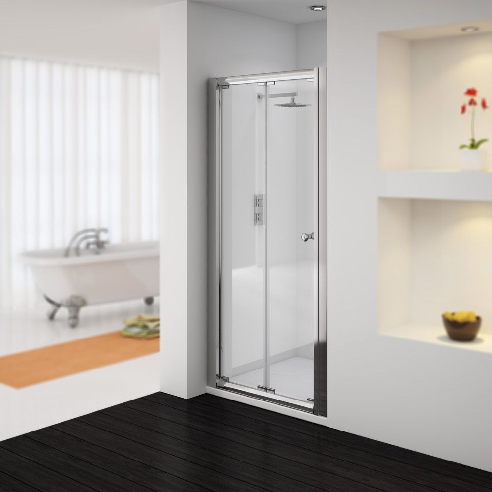 Newark 1850mm Bi Folding Shower Door Various Sizes At Victorian Plumbing Uk Shower Doors Bifold Shower Door Shower Cubicles