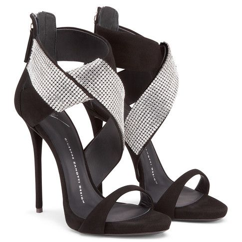 ELLA BLACK Sandals by Giuseppe Zanotti (With images