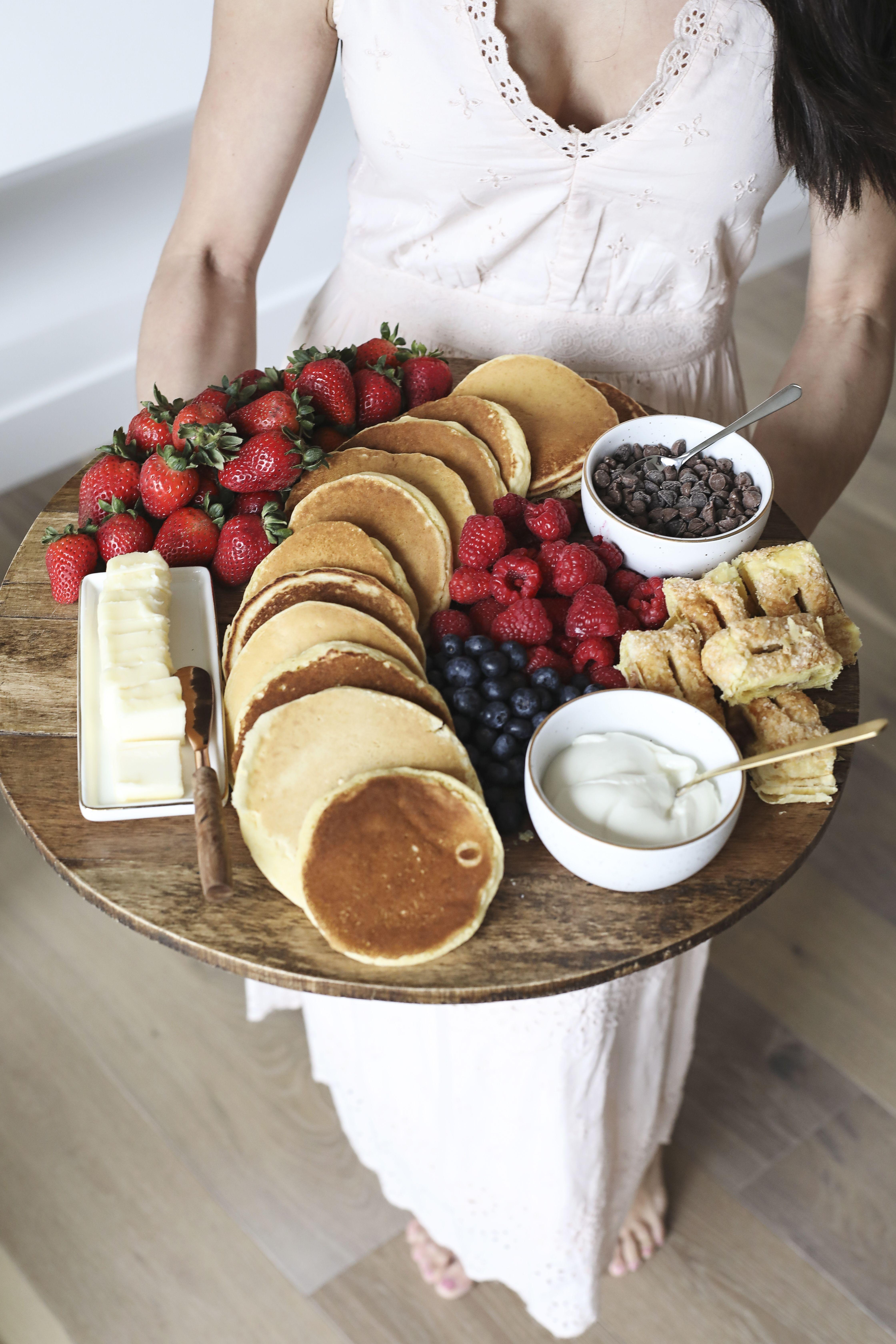 Breakfast charcuterie board - pancake platter