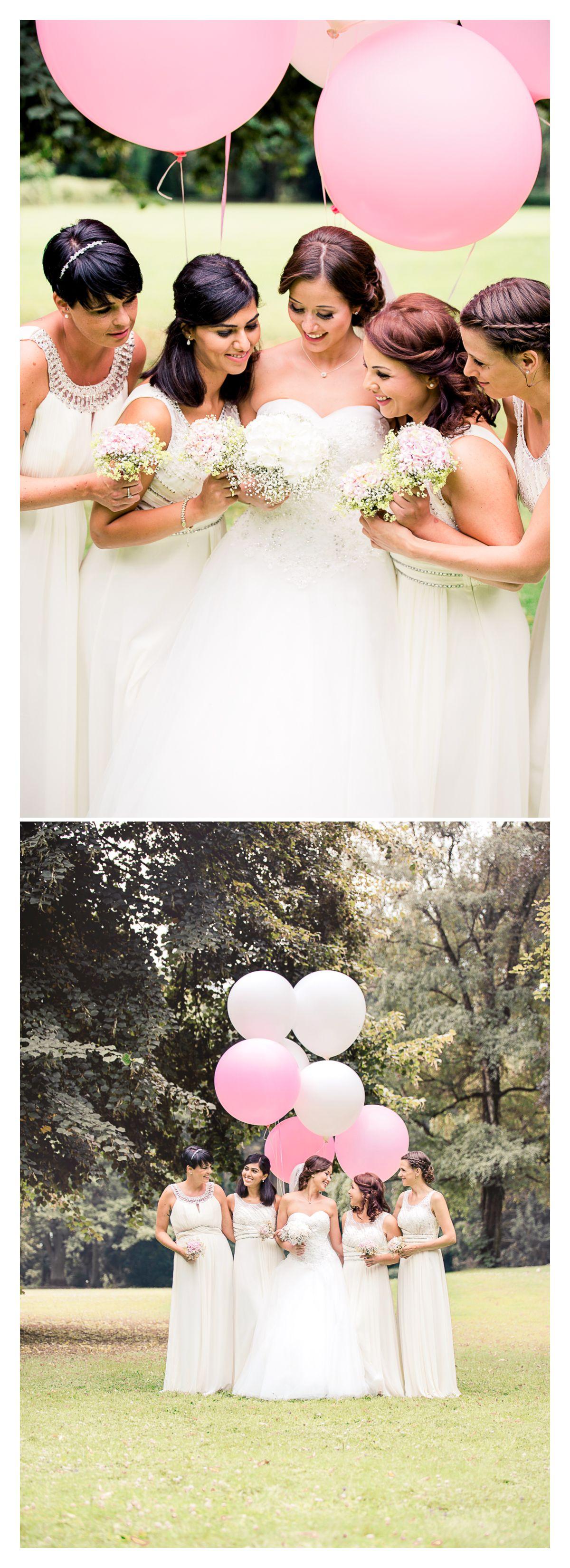 Riesen Ballons Moderne Hochzeitsfotografie