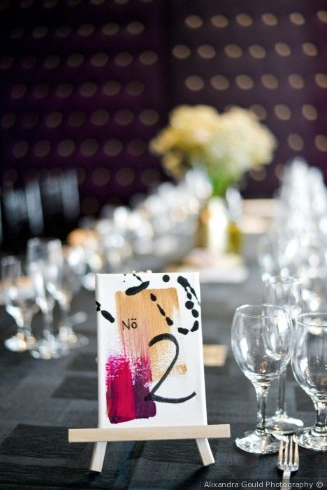 mini canvas table numbers photo by alixandra gould photography rh pinterest com