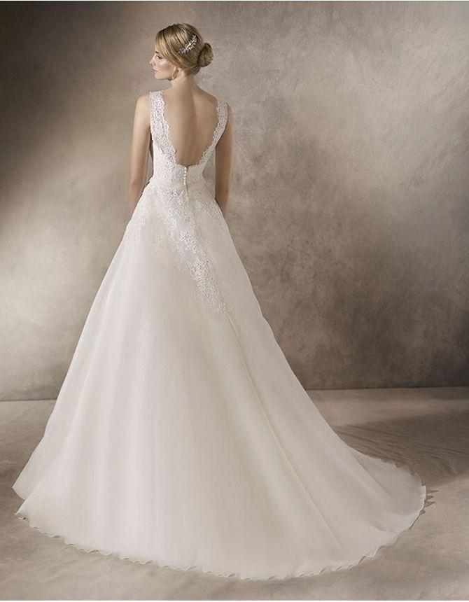 precioso vestido de novia de estilo princesa en garza para dar