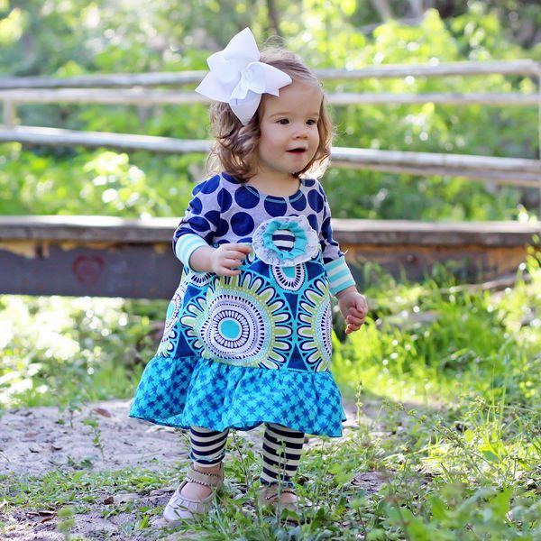 Baxter and Beatrice Infant Navy Ruffle Set