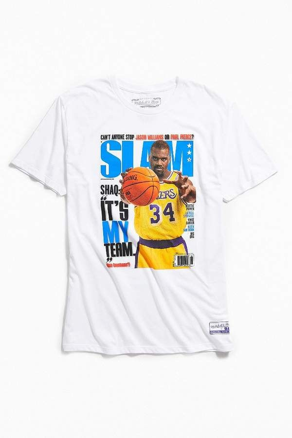 promo code 92fbb 87c5a Mitchell   Ness Shaquille O Neal Slam Cover Tee