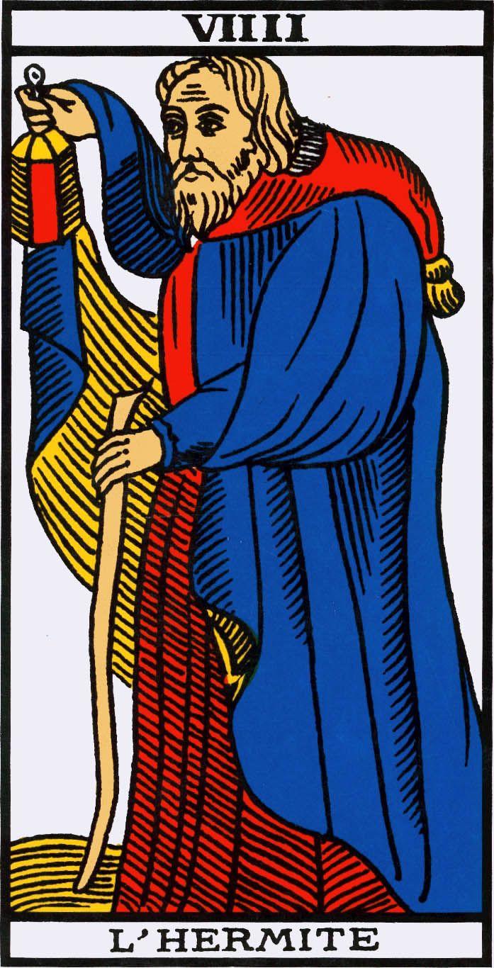 Marseille Tarot Cards 2010: IX Il Tempo / L'Hermite / The Hermit