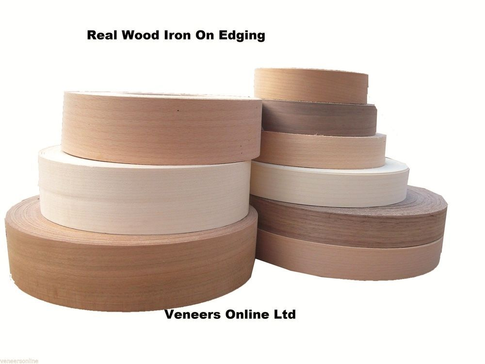 Details About Pre Glued Edging Tape Real Iron On Wood Veneer