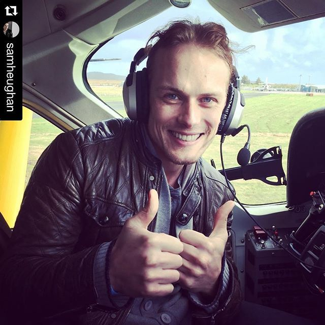 #Repost @samheughan with @repostapp. ・・・ Landed on Islay!