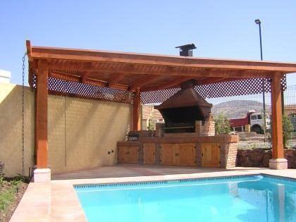 Pergolasquinchosparrillasdiseo  patio piscina y quincho  Quinchos Prgolas Terraza casa