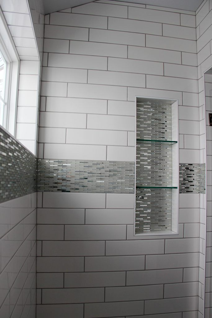 Tiled Shower Walls Angora Soho White 4x16 Shower