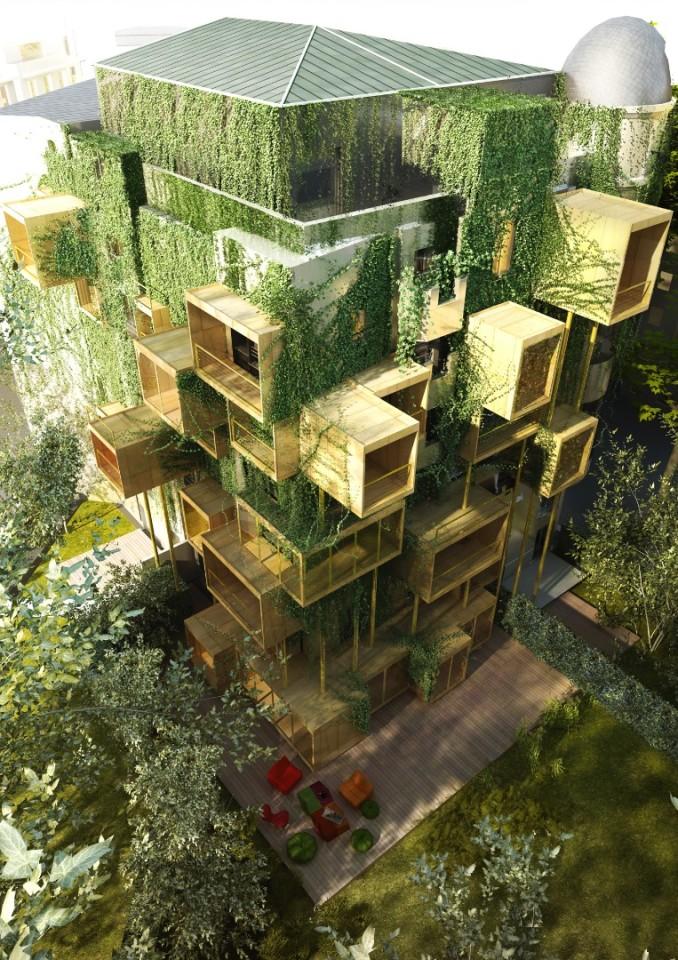 Paris apartment building goes outside the box