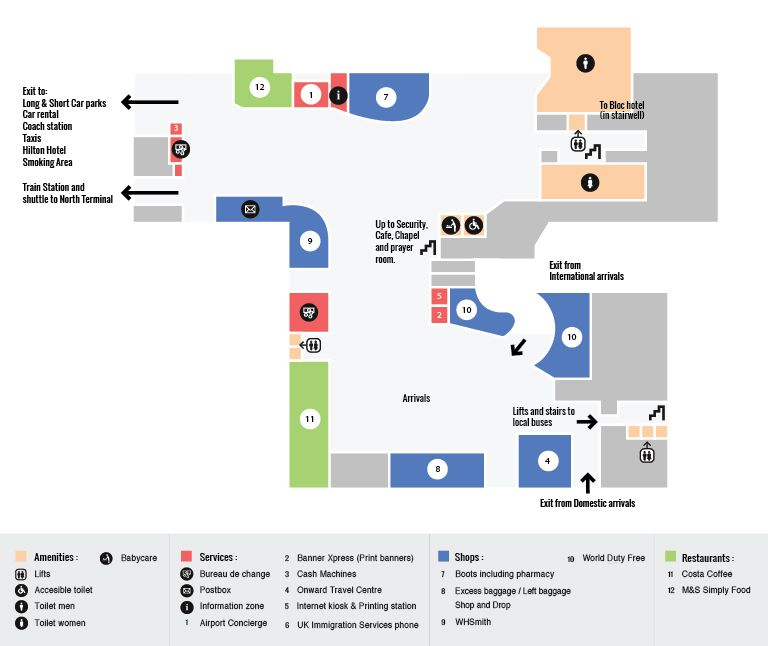 Gatwick South Terminal Maps Gatwick Airport Guide Airport