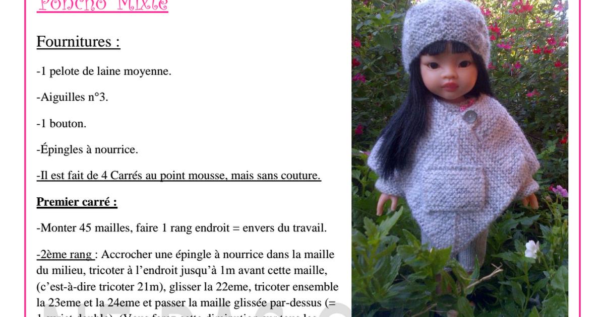 Poncho Mixte.pdf | Muñeca de trapo | Pinterest | Muñecas de trapo ...