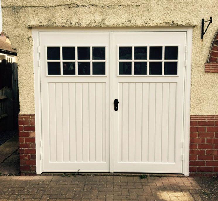 Cardale Abs Side Hinged Garage Door With Windows Elite Gd Side Hinged Garage Doors Garage Doors Garage Door Design