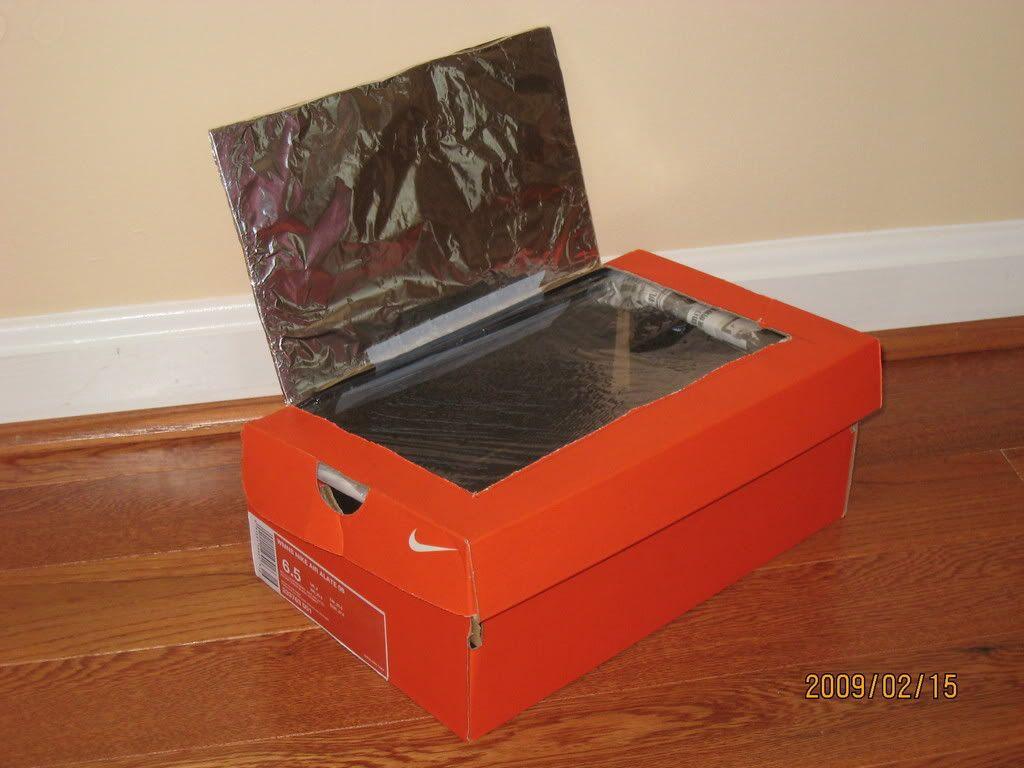 Pin Shoe Box Solar Cooker Oven On Pinterest Solar Cooker Solar Oven Diy Solar Oven