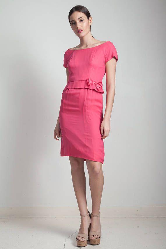 Short Pink Peplum Dress