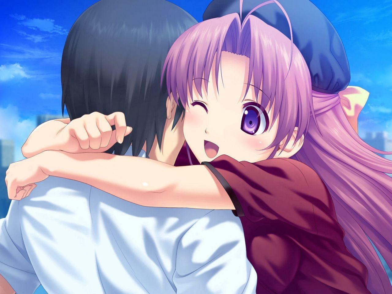 Wallpaper Boy Spin Girl Pleasure Hug In 2021 Anime Wallpaper Download Anime Hug Hd Anime Wallpapers Anime couple hug wallpaper