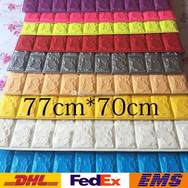 Best New Wall Stickers 3D Brick Pattern Wallpaper Bedroom 640 x 480