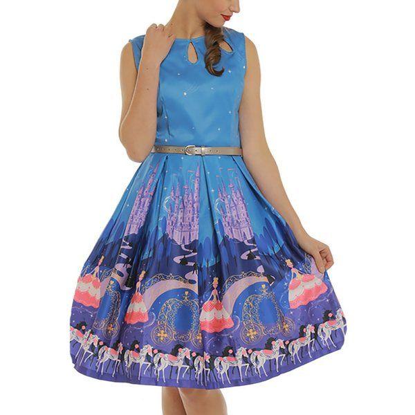 e45e7345a320 Lindy Bop Lily Fairytale Princess Dress. 'Lily Fairytale Princess Print  Swing ...