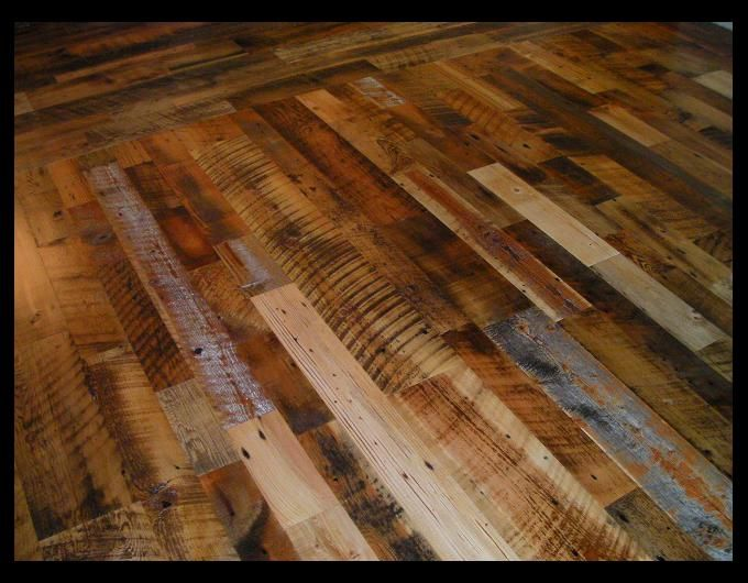 Skip Sanded Reclaimed Mixed Softwoods Engineered Floor Home