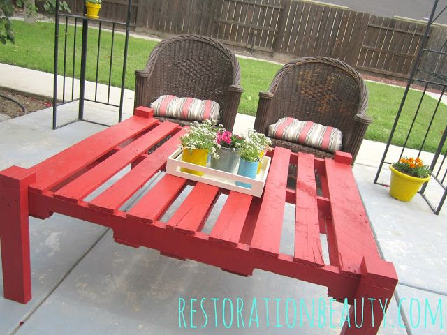 Restoration Beauty Making An Outdoor Table From A Pallet Pallet Table Diy Wood Table Diy Pallet Diy