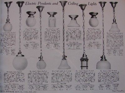 1910 Sears Antique Lighting Catalog Antique Lighting Sears Antiques