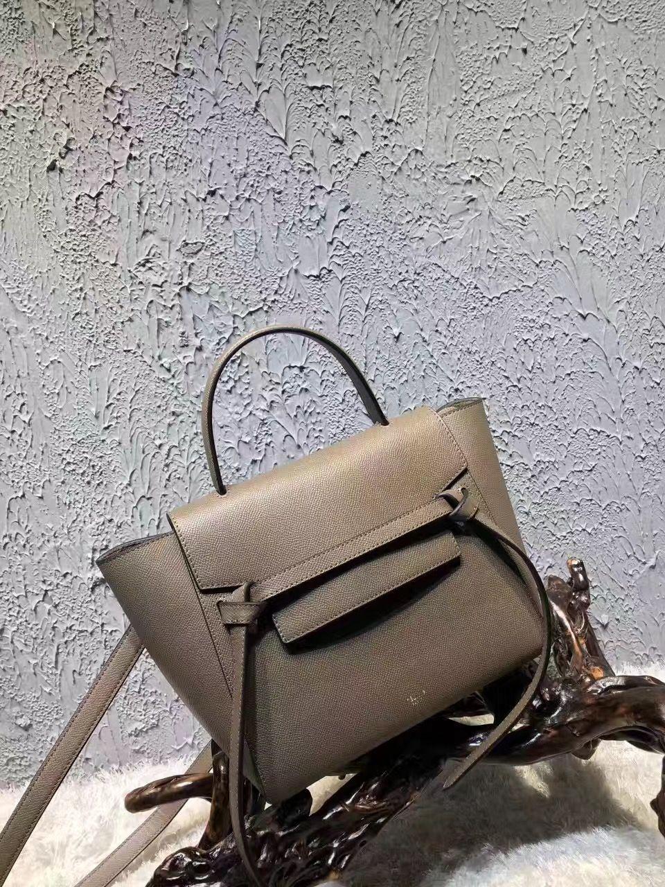 c068e553420b Celine Micro Belt Handbag In Iron Grey Grained Calfskin 2017 ...